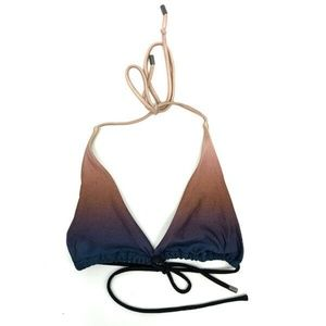 Victoria's Secret Triangle Bikini Top S Ombre